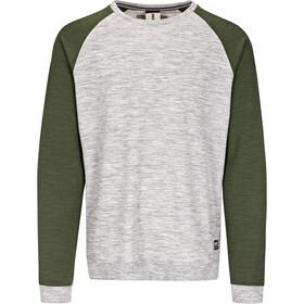 super.natural Essential Raglan Crew Sweater Herr ash melange/duffel bag 3d